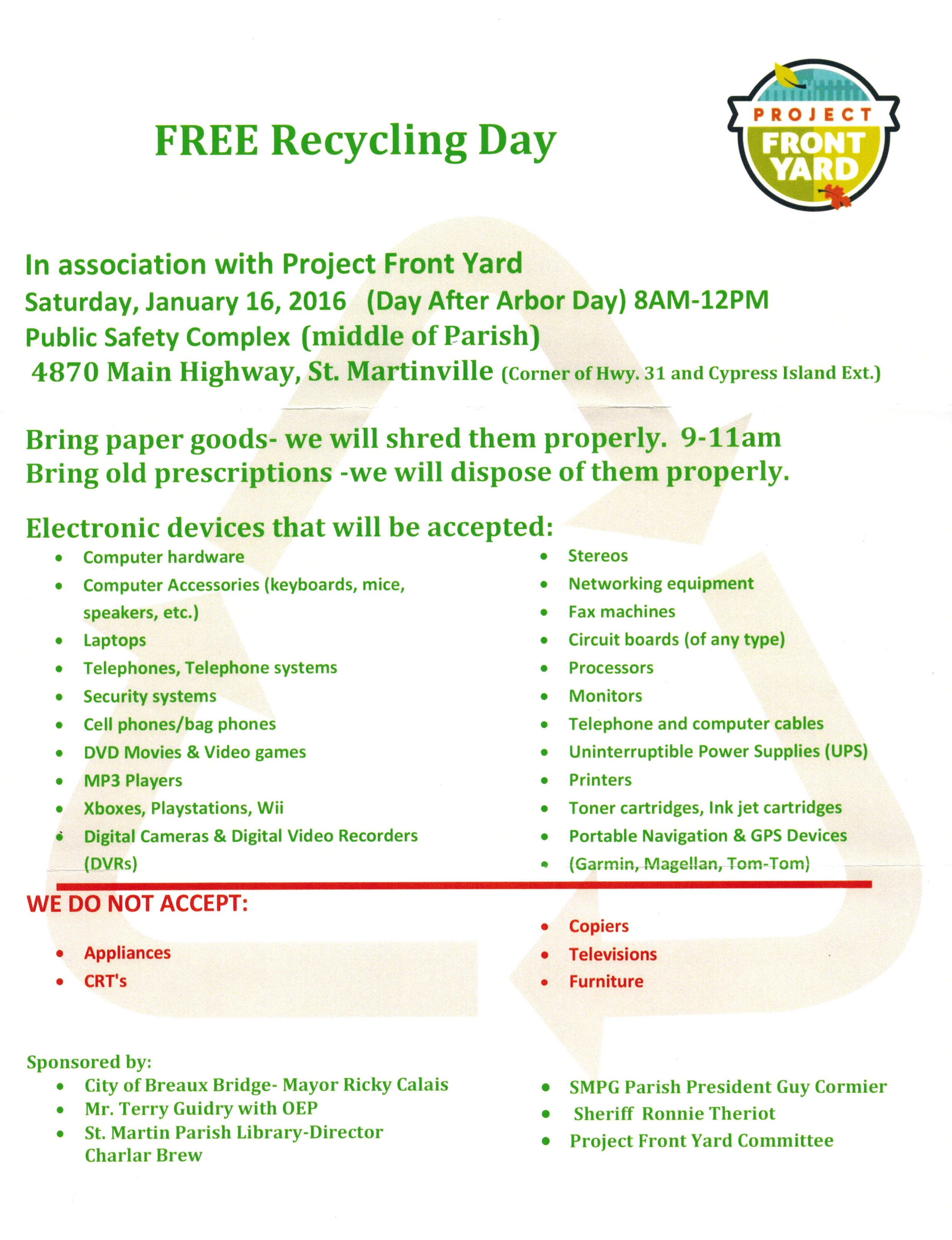 FREE Recyling Day